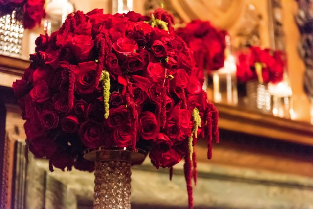 luxurious red wedding