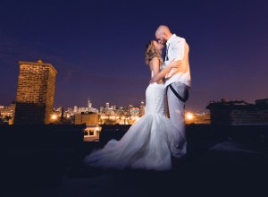 Chicago glam wedding