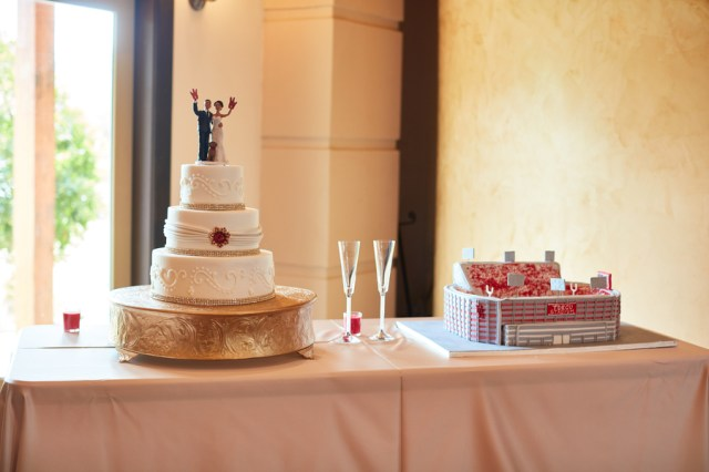 red Houston wedding