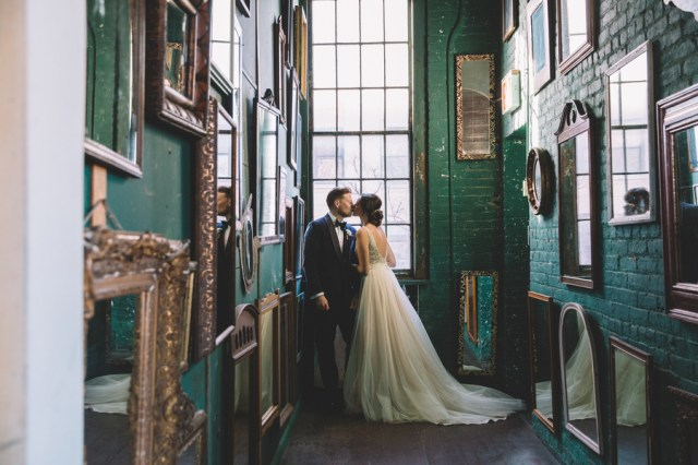 vintage urban wedding