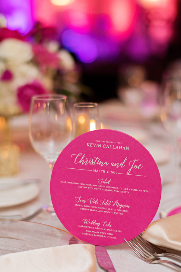 elegant pink wedding