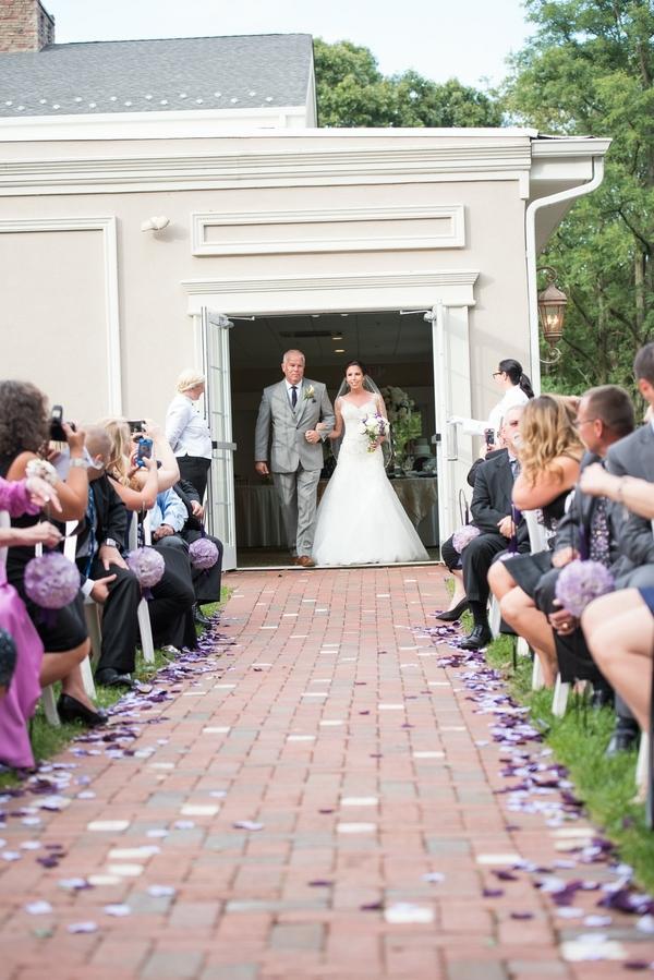 purple estate wedding