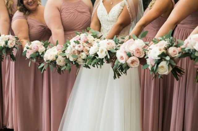 blue spring wedding