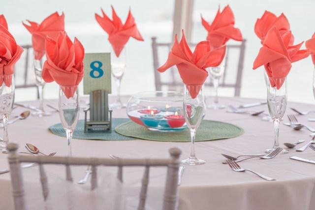 bright beach wedding