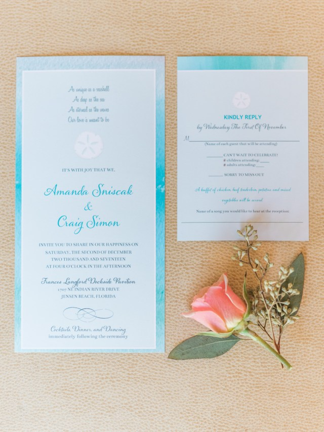 Florida beach-inspired wedding