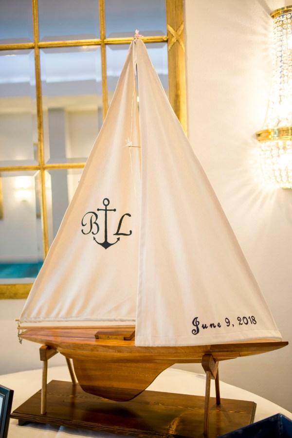 colorful nautical wedding