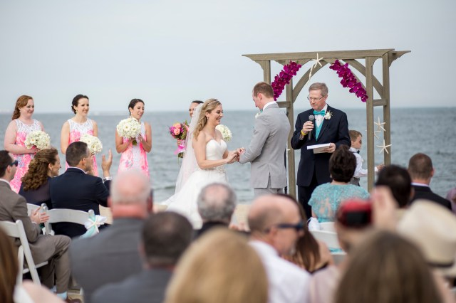 colorful nautical wedding