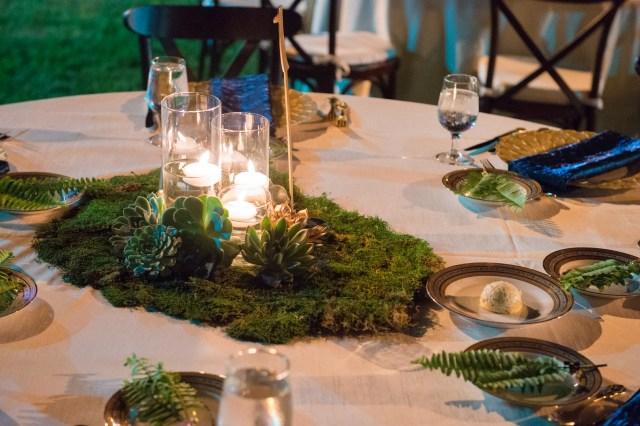outdoor geode wedding