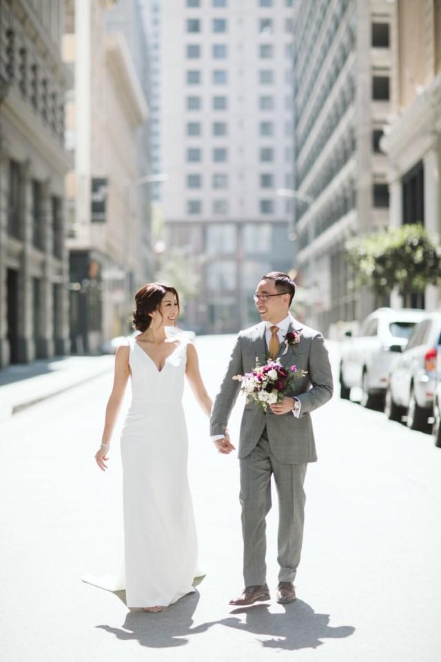 modern purple wedding