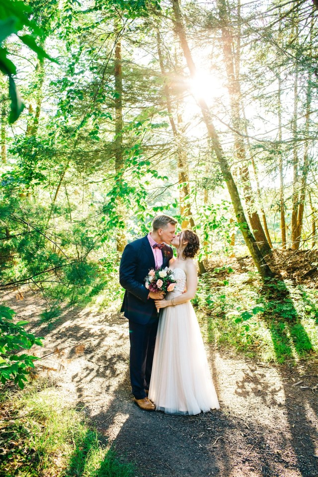 industrial mountain wedding