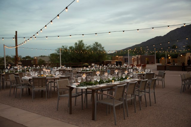 elegant desert wedding