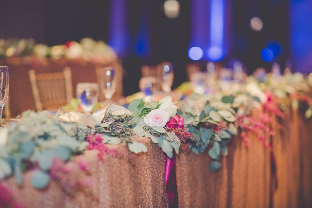 colorful Illinois wedding