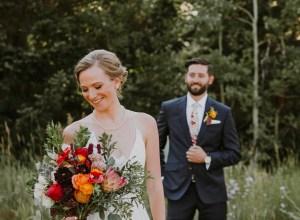 bright boho wedding