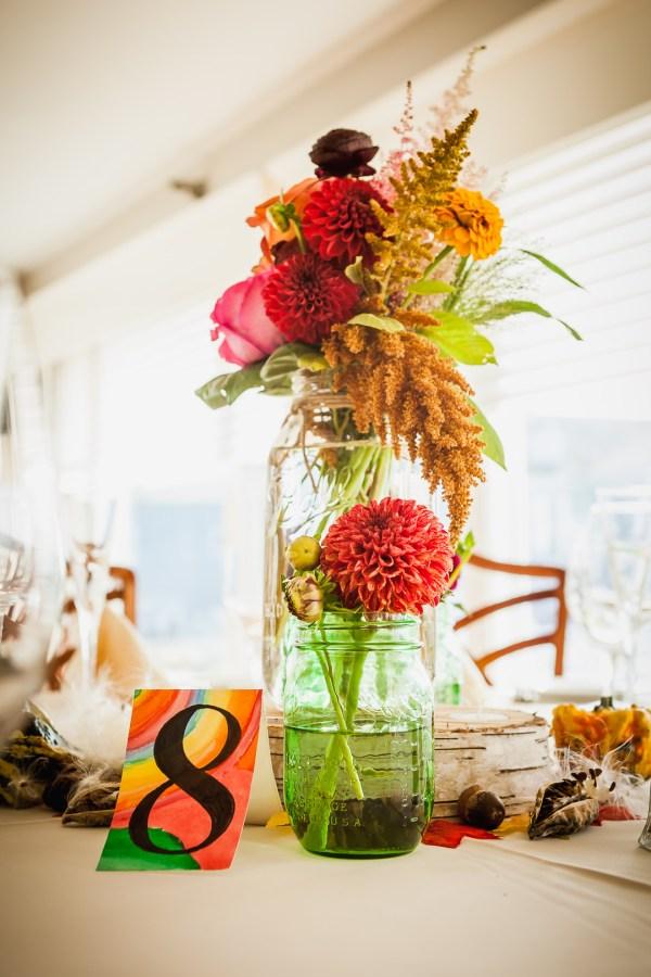 oceanside fall wedding