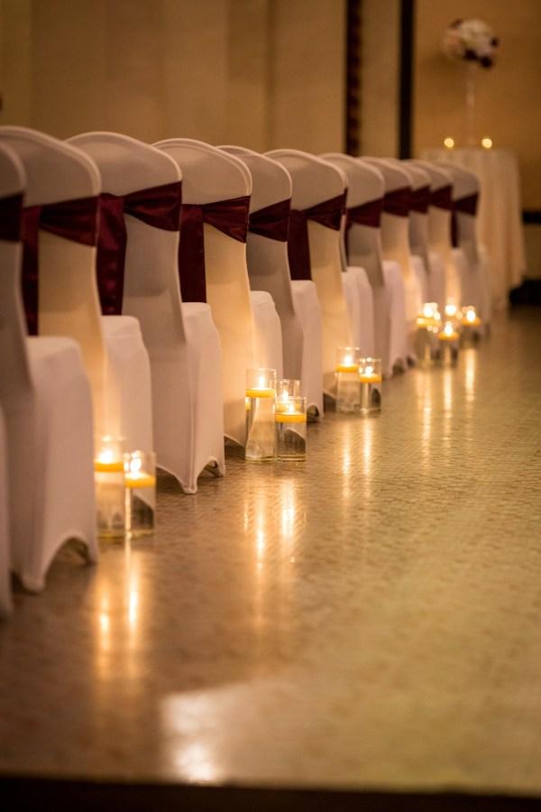 glamorous ballroom wedding