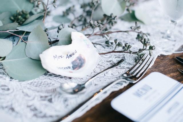 blue Maine wedding