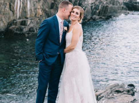 blue Maine wedding