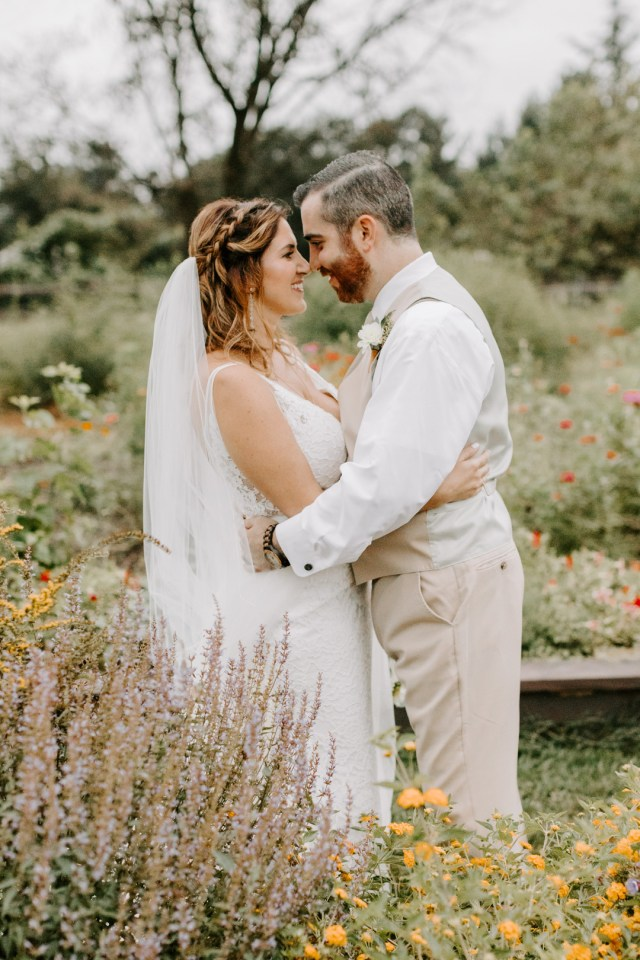 green farm wedding
