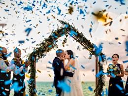 blue Jamaica wedding