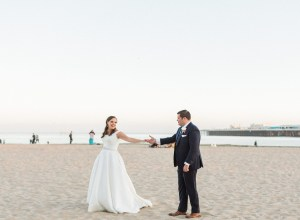 romantic boardwalk wedding
