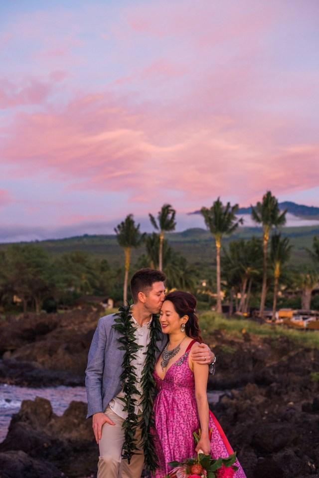 colorful Hawaii wedding