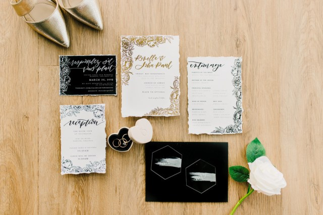 modern DIY wedding