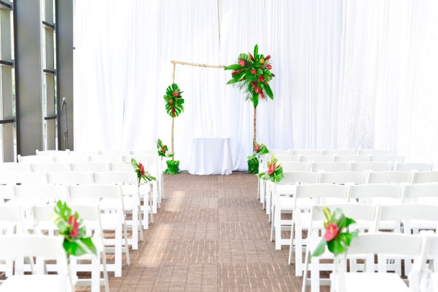 tiki tropical wedding