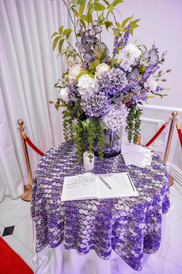 purple Dallas wedding