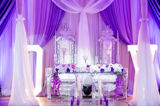 purple Dallas wedding