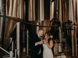 industrial brewery wedding