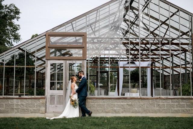 Ohio greenhouse wedding