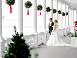glittery Christmas wedding