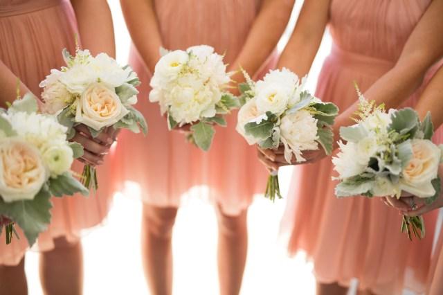blush spring wedding
