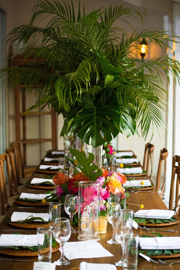 tropical white wedding