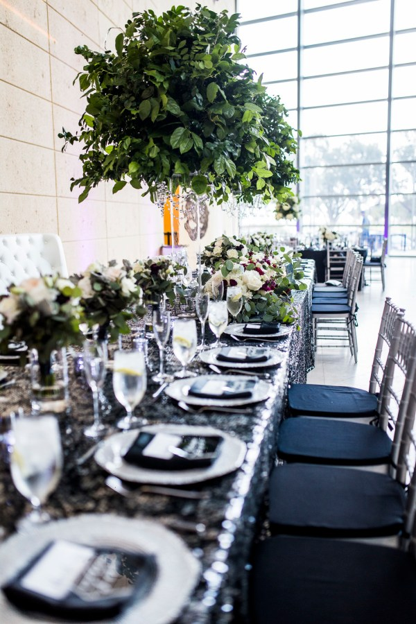 glamorous museum wedding