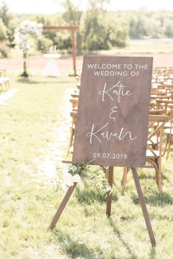 chic outdoor wedding