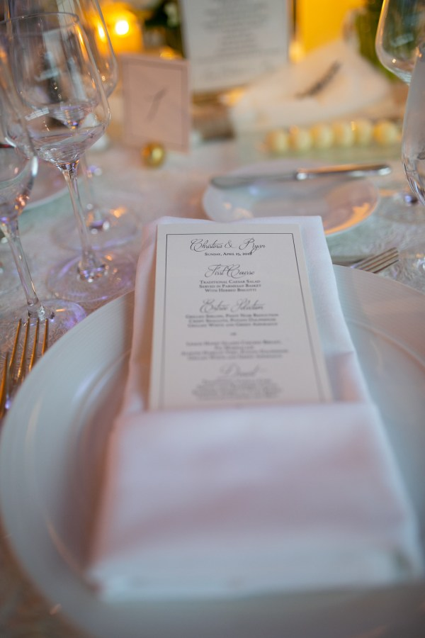 white ballroom wedding
