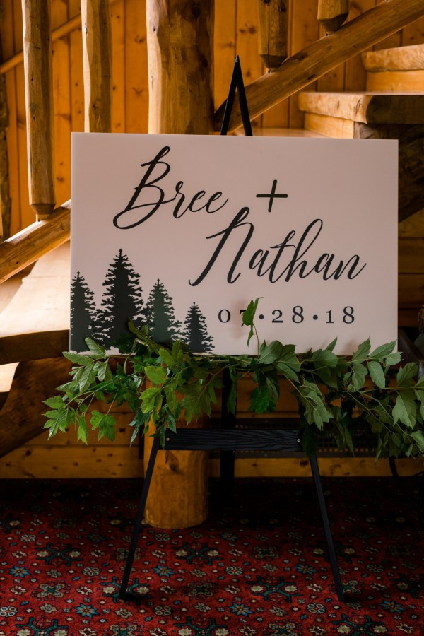 woodland lodge wedding