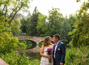 colorful Boulder wedding