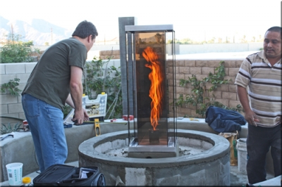 custom centerless fire pit rings propane or natural gas conversion to fire glass crystals fire