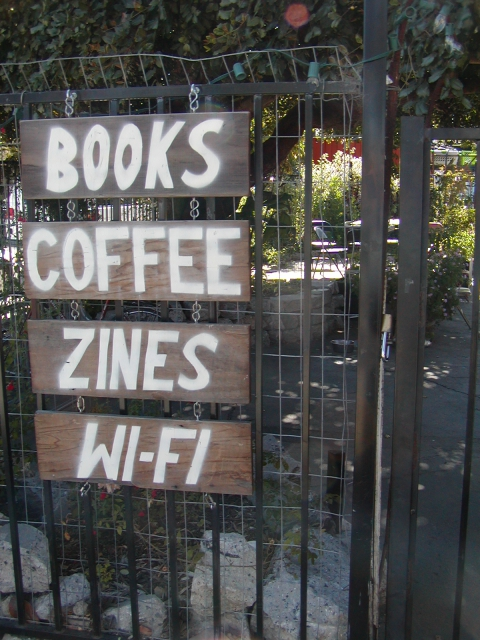 Books, coffee, zines, and free wifi