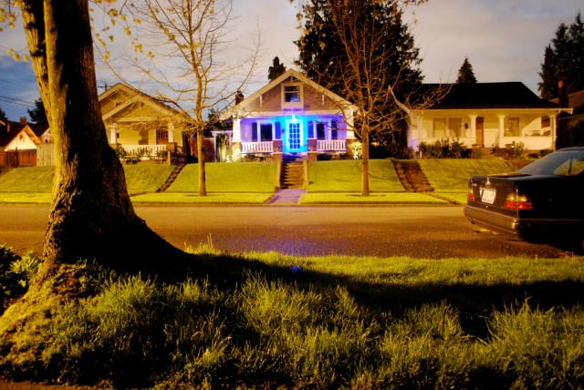 Blue light house. Photo by Kevin A Slotemaker