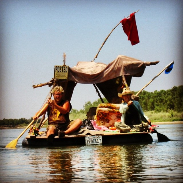 Punk rafting journeys helped inspire the shantyboat build