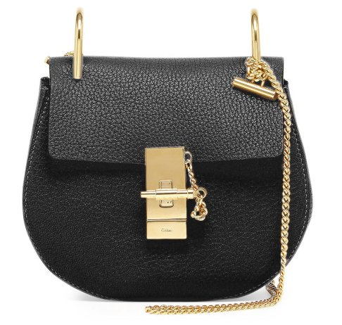Chloe-Drew-Mini-Chain-Shoulder-Bag-in-Black