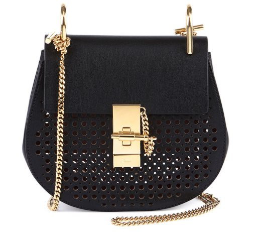 Chloe-Drew-Perforated-Mini-Shoulder-Bag-Black