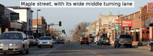Maple Street's Turning Lane