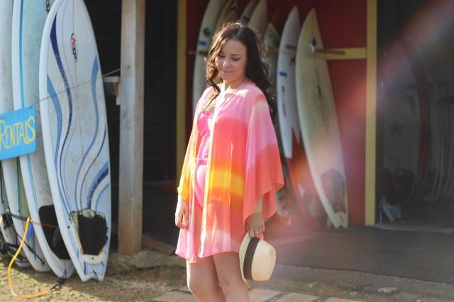 Neon Sunset Kimono Beach Outfit 11