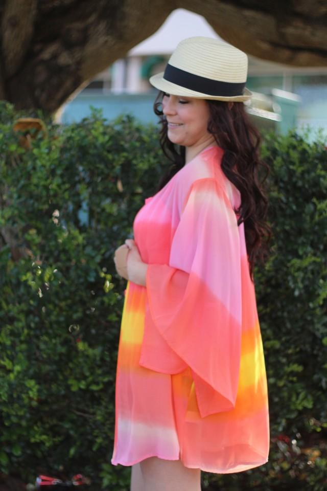 Neon Sunset Kimono Beach Outfit 15