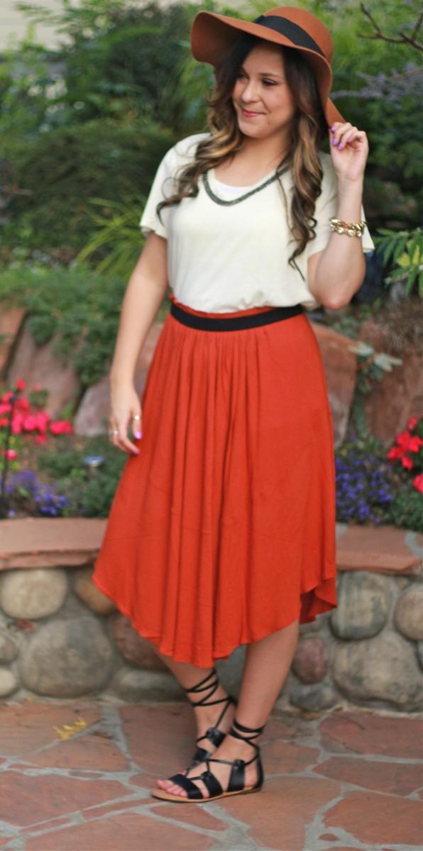 Rust skirt 1