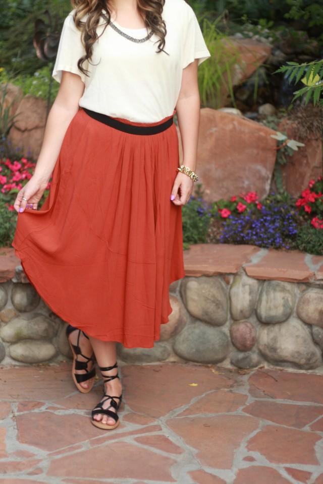 Rust skirt 6